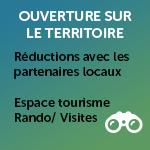 Ouverture sur le pays : P'tit curieux, Pass'découverte, Chouett'Enquète, Espace 360°, Rando/visites/producteurs
