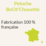 Peluche BoOt'Chouette : Fabrication 100 % française